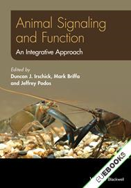 Animal Signaling and Function : An Integrative Approach